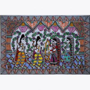 Large Size Madhubani Painting