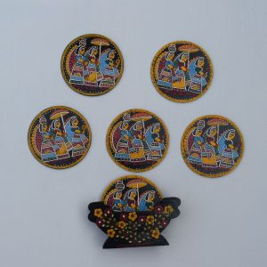 Madhubani Hand Painted Coasters