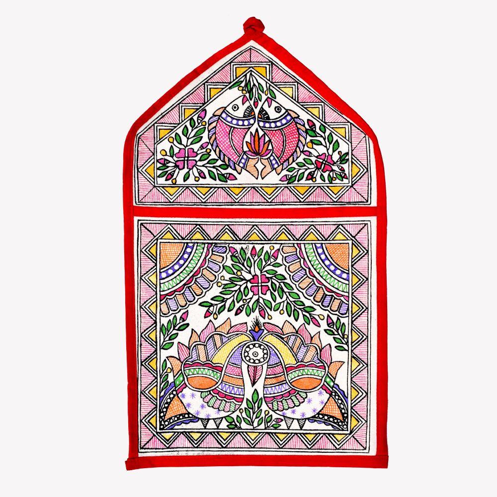 Madhubani Wall Pocket Single